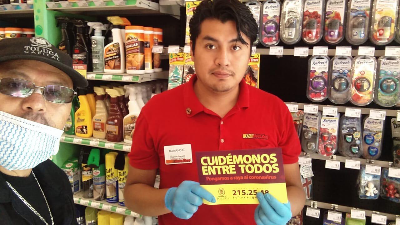 Con información de COVID-19, protege Toluca a la población