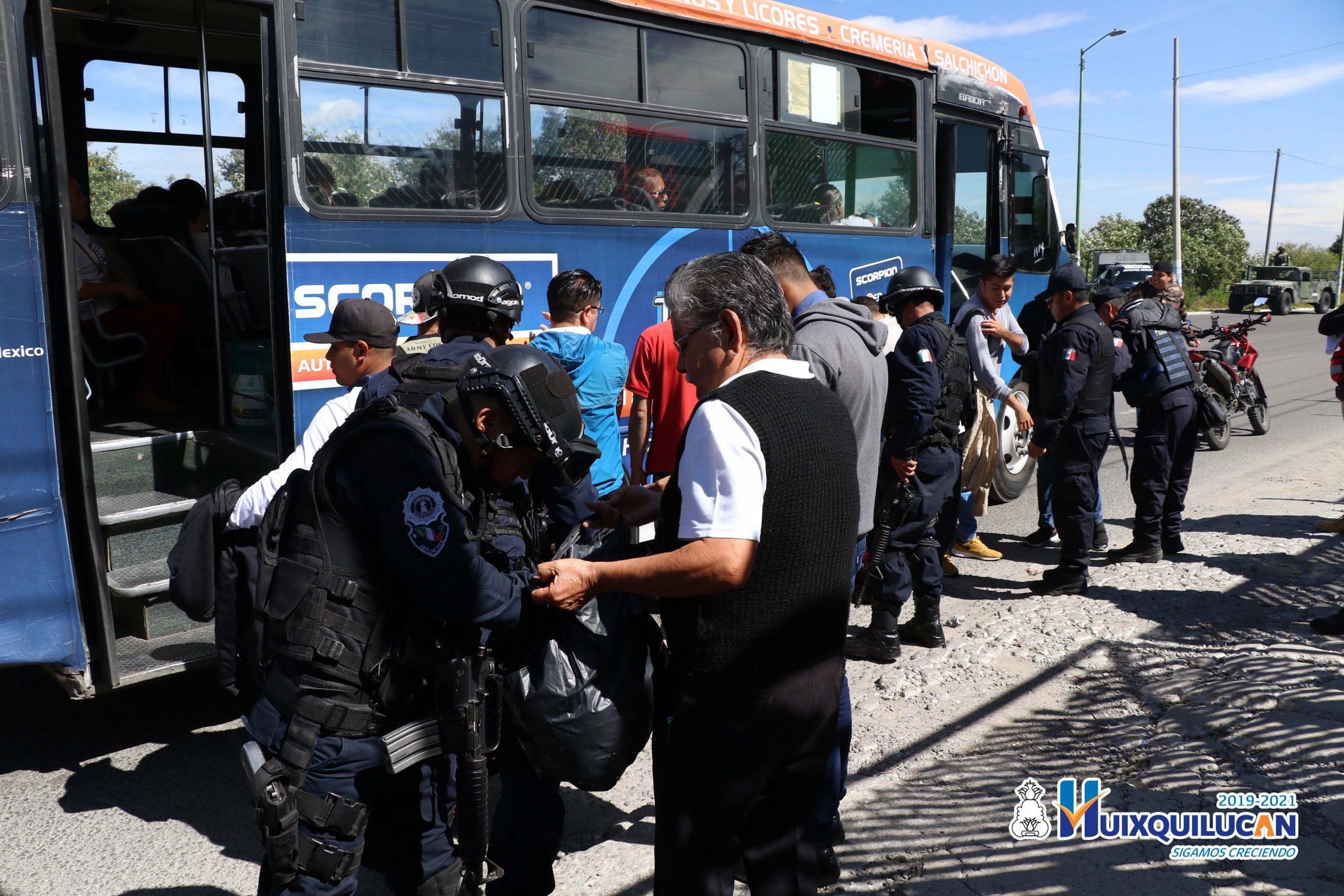 Baja robo en transporte público en Huixquilucan