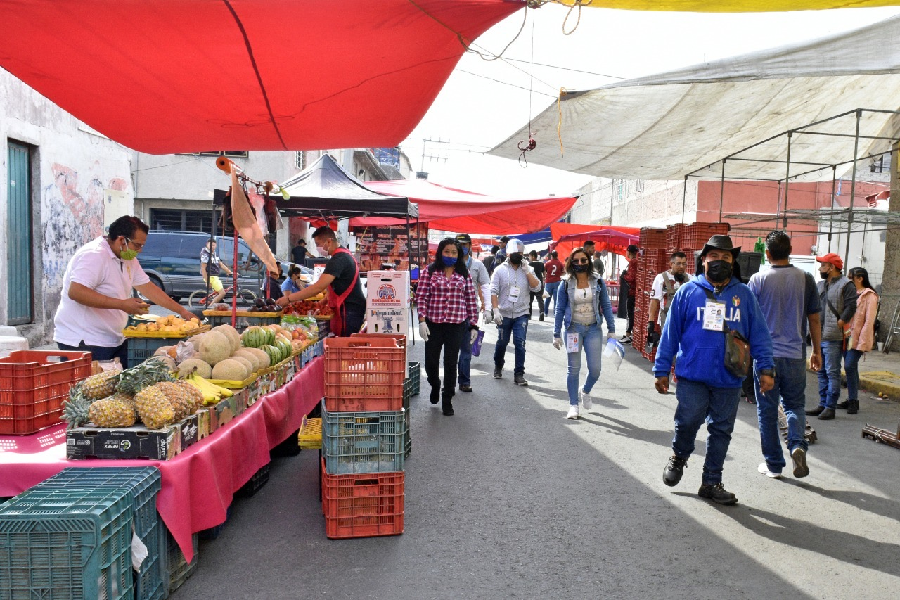 Para frenar propagación de COVID 19 se suspende la instalación de tianguis en Nezahualcóyotl los fines de semana hasta el 30 de mayo