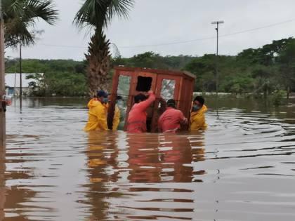 Tabasco, Campeche y Yucatán bajo el agua: las imágenes más impactantes de la tormenta tropical Cristobal