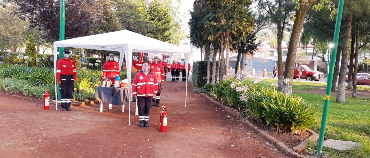 """Protección Civil y Bomberos de Toluca iniciaron la campaña """"No des la espalda a tu salud"""""""