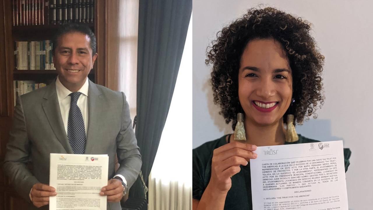 Firman Toluca y The Trust for the Americas carta de colaboración
