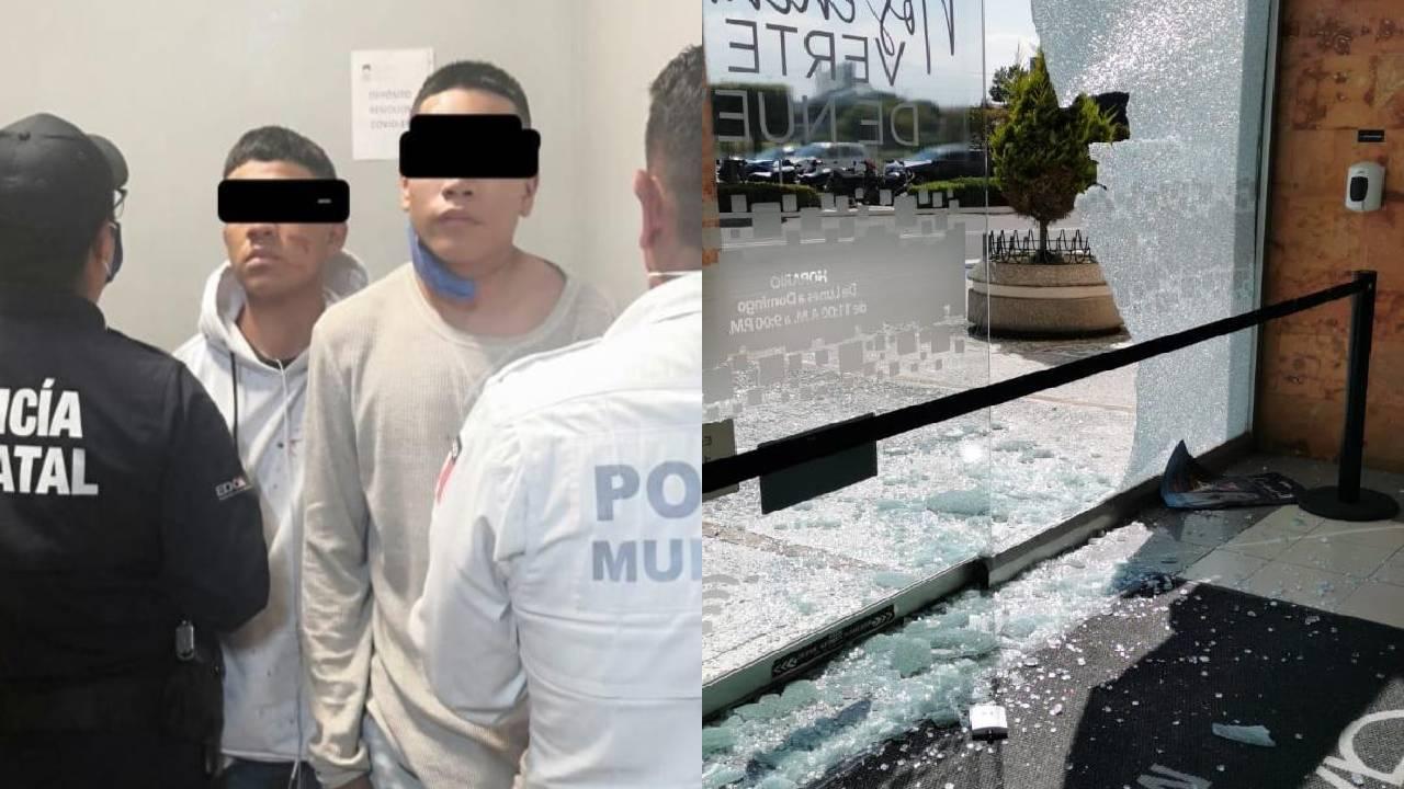 Policía de Metepec asegura a dos miembros de banda dedicada al robo de joyerías