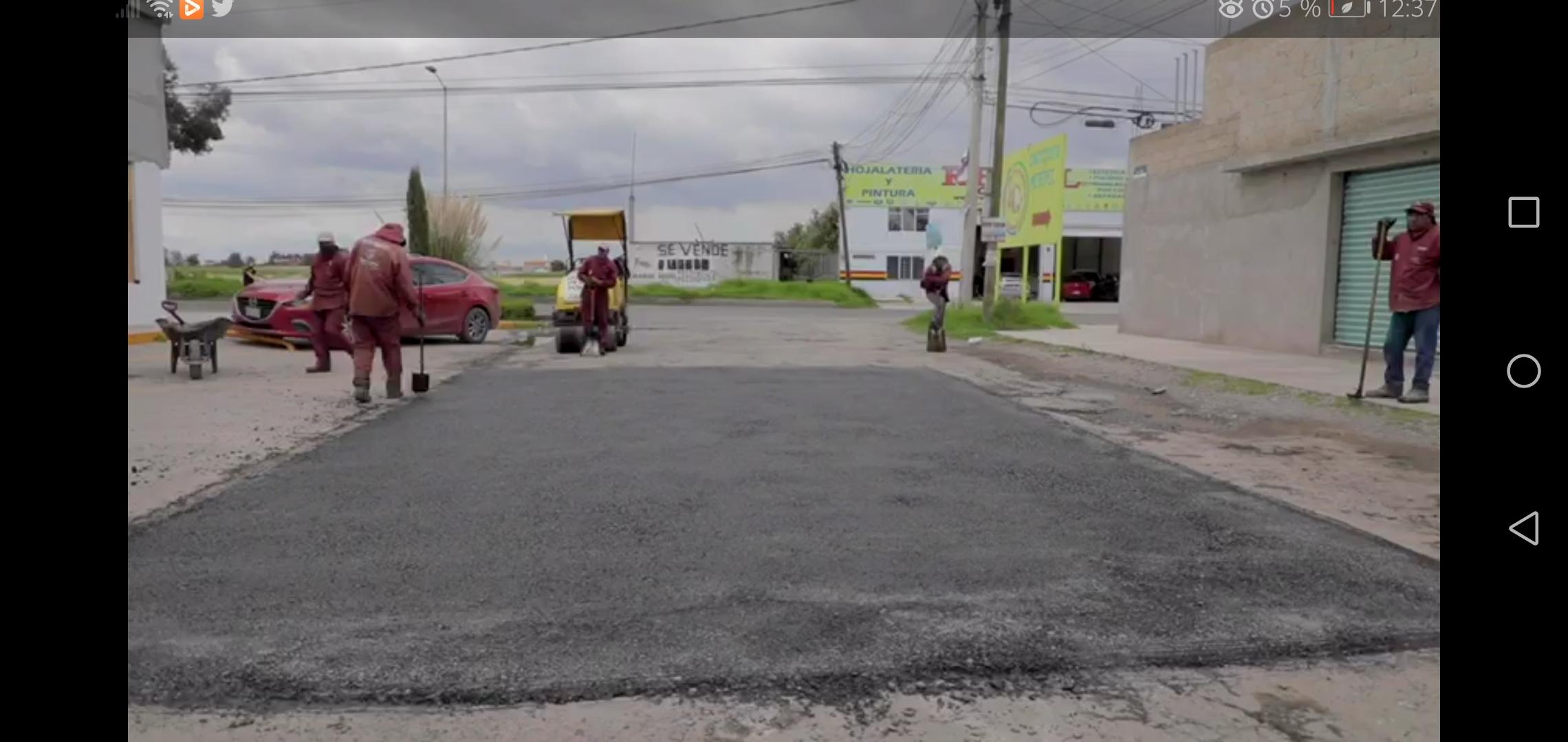 #VIDEO En el presente año Metepec aplicó casi 12 mil toneladas de mezcla asfáltica en caliente