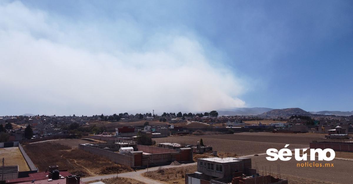 Se reactiva incendio forestal en la zona del Nevado de Toluca