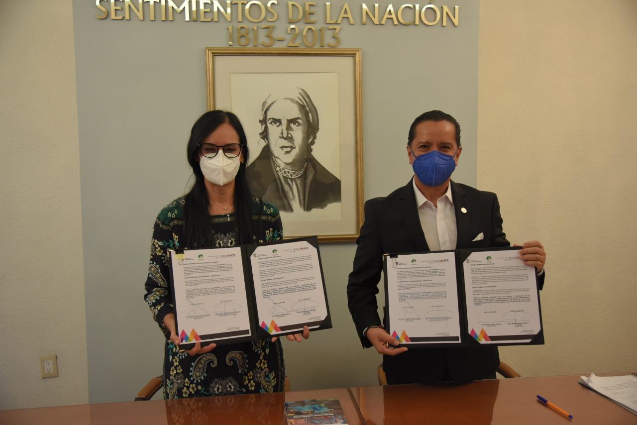 Codhem y Secretaría de las Mujeres colaboran para promover y defender los derechos humanos de las mexiquenses