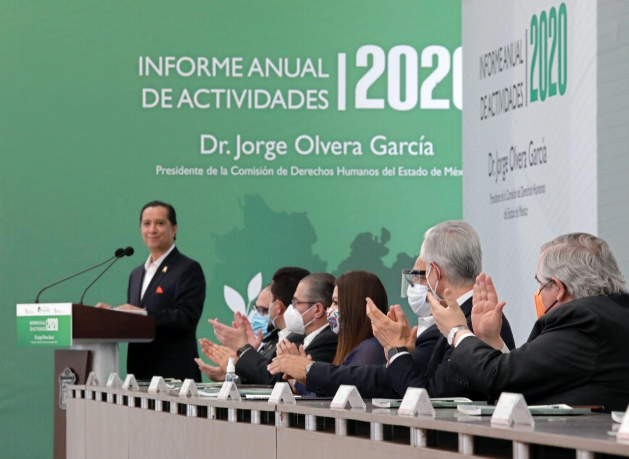 Jorge Olvera rinde cuarto informe al frente de la CODHEM