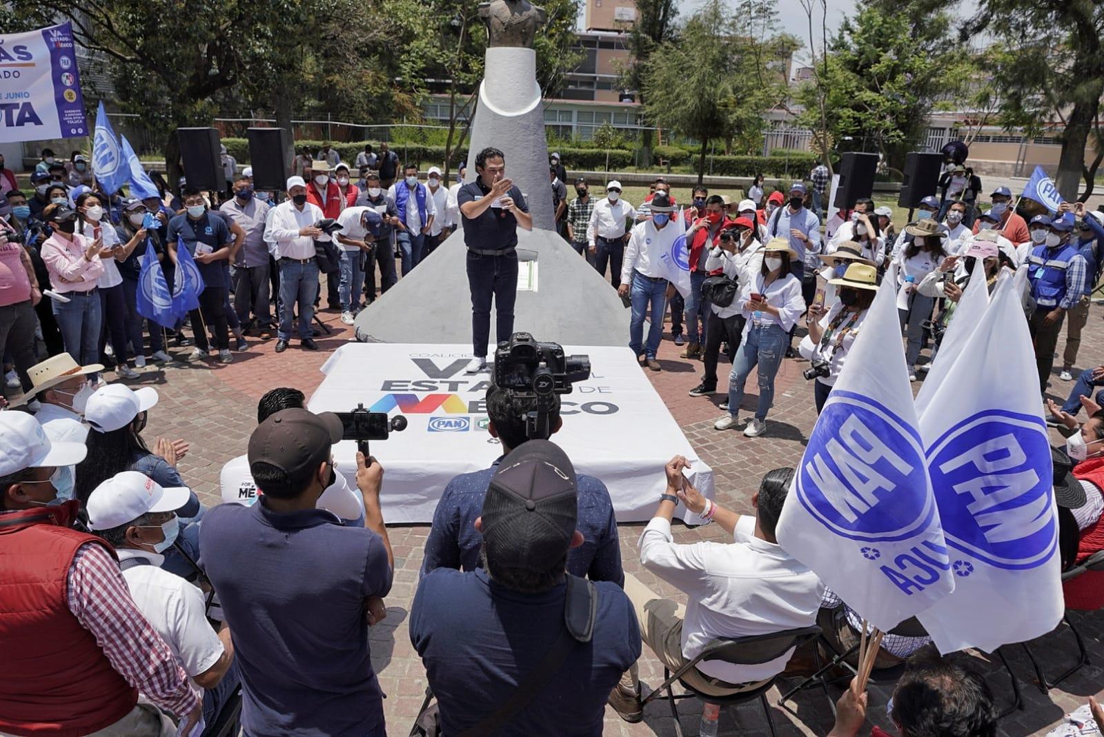 Los candidatos de la coalición va por el Estado de México tienen todo el respaldo de acción nacional: Enrique Vargas