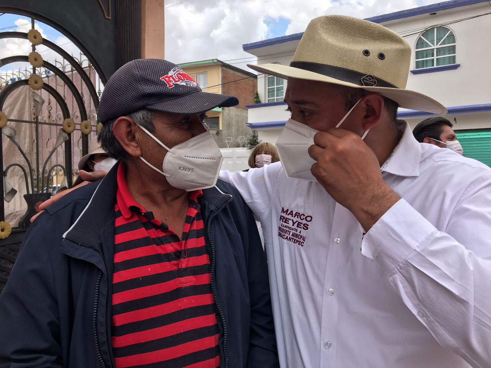 """""""Atenderemos lo que otros dejaron de hacer por Zinacantepec"""": Marco Reyes"""