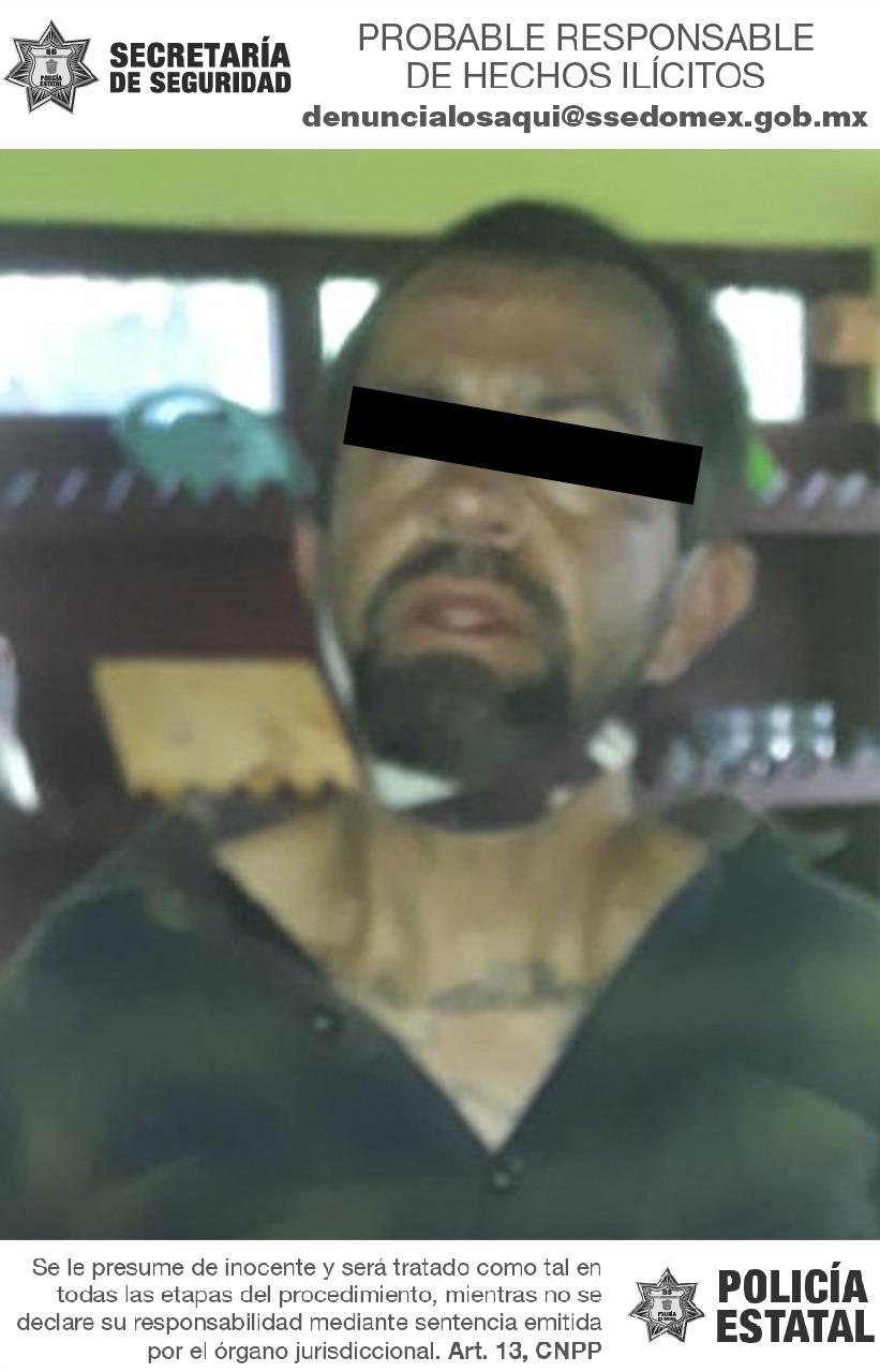 Detienen a sujeto que cortó lengua de una mujer en Ocuilan