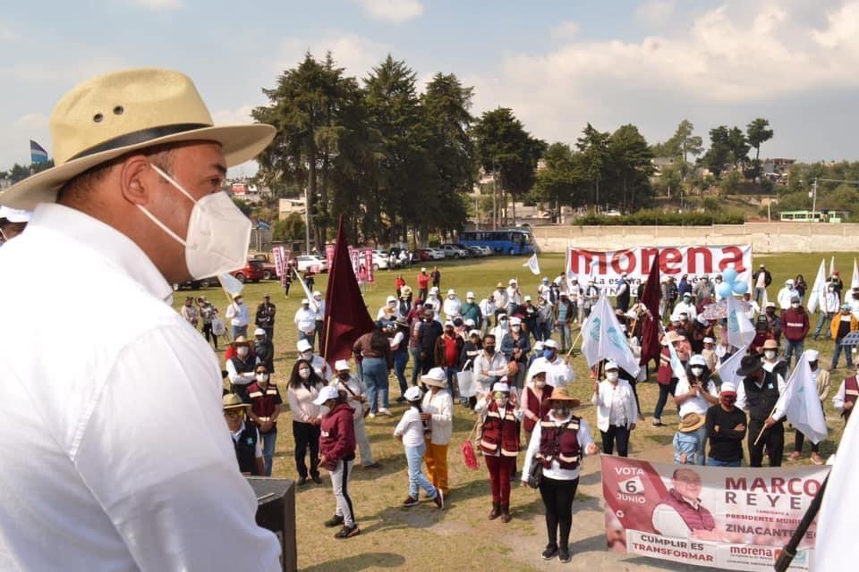 En San Pedro Tejalpa seguiremos cumpliendo con trabajo: Marco Antonio Reyes