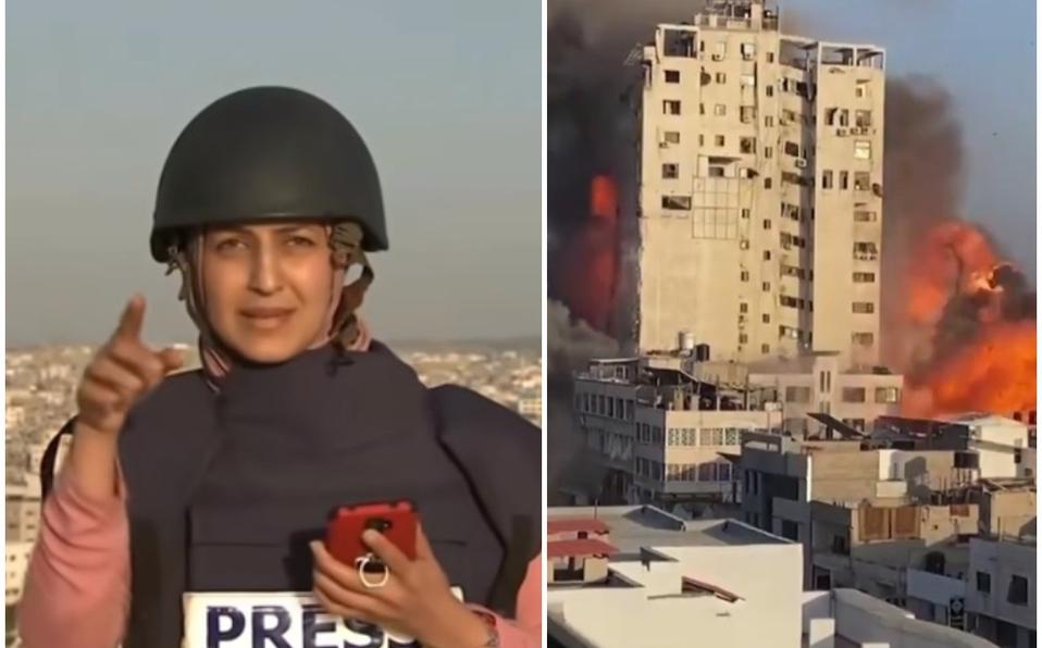 ¡Qué susto! Bombardeo en Gaza agarra a reportera por sorpresa