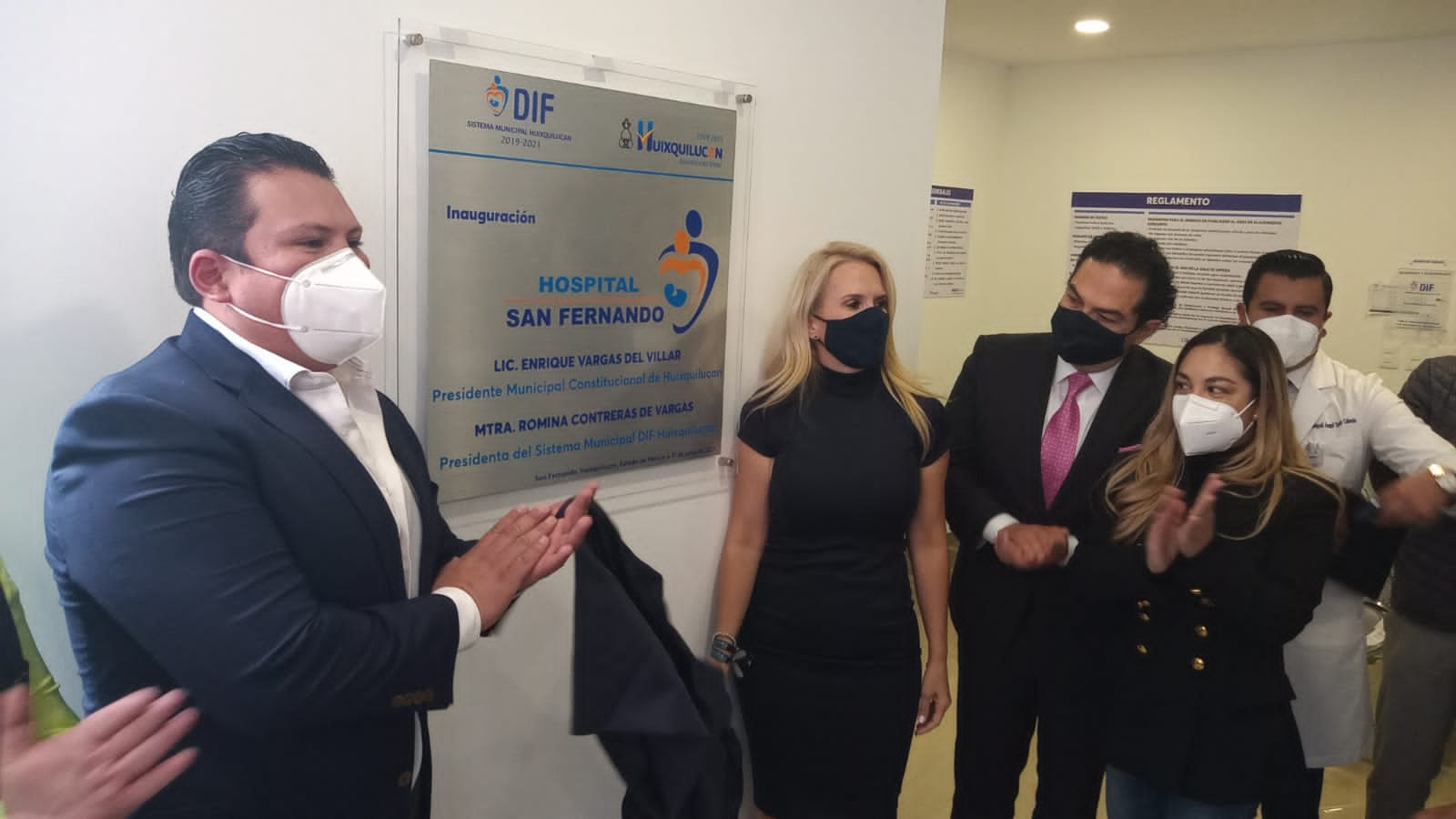 Inaugura Enrique Vargas del Villar Hospital San Fernando en Huixquilucan
