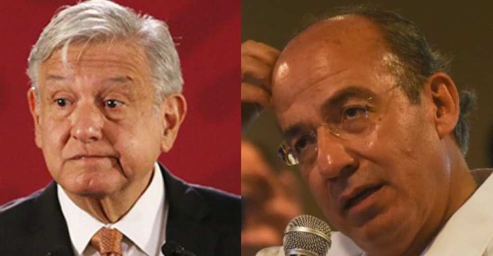 AMLO desea pronta recuperación a Felipe Calderón tras dar positivo a COVID-19