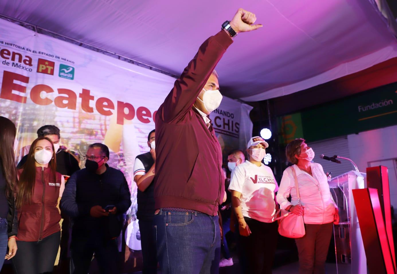 Fernando Vilchis gana Ecatepec con más de 275 mil votos para Morena; supera en votación a Colima, Tlaxcala, Campeche, Nayarit y BCS