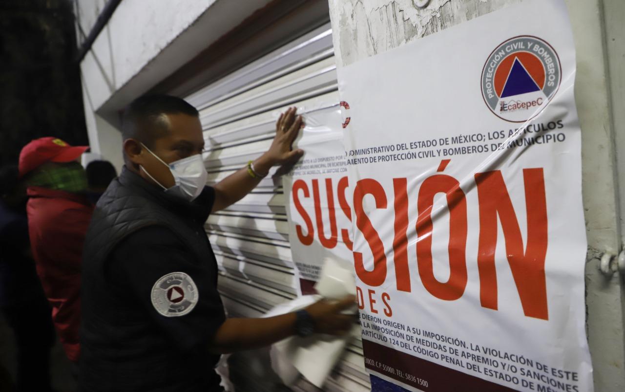 Gobierno de Ecatepec cancela dos fiestas y suspende 6 negocios con venta de alcohol para evitar contagios de Covid-19