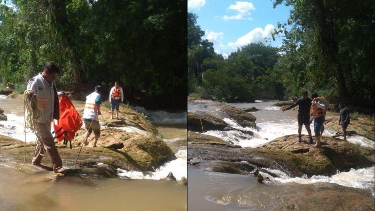 ¡La encontraron! Muere turista de Portugal que desapareció en cascadas de Agua Azul de Chiapas