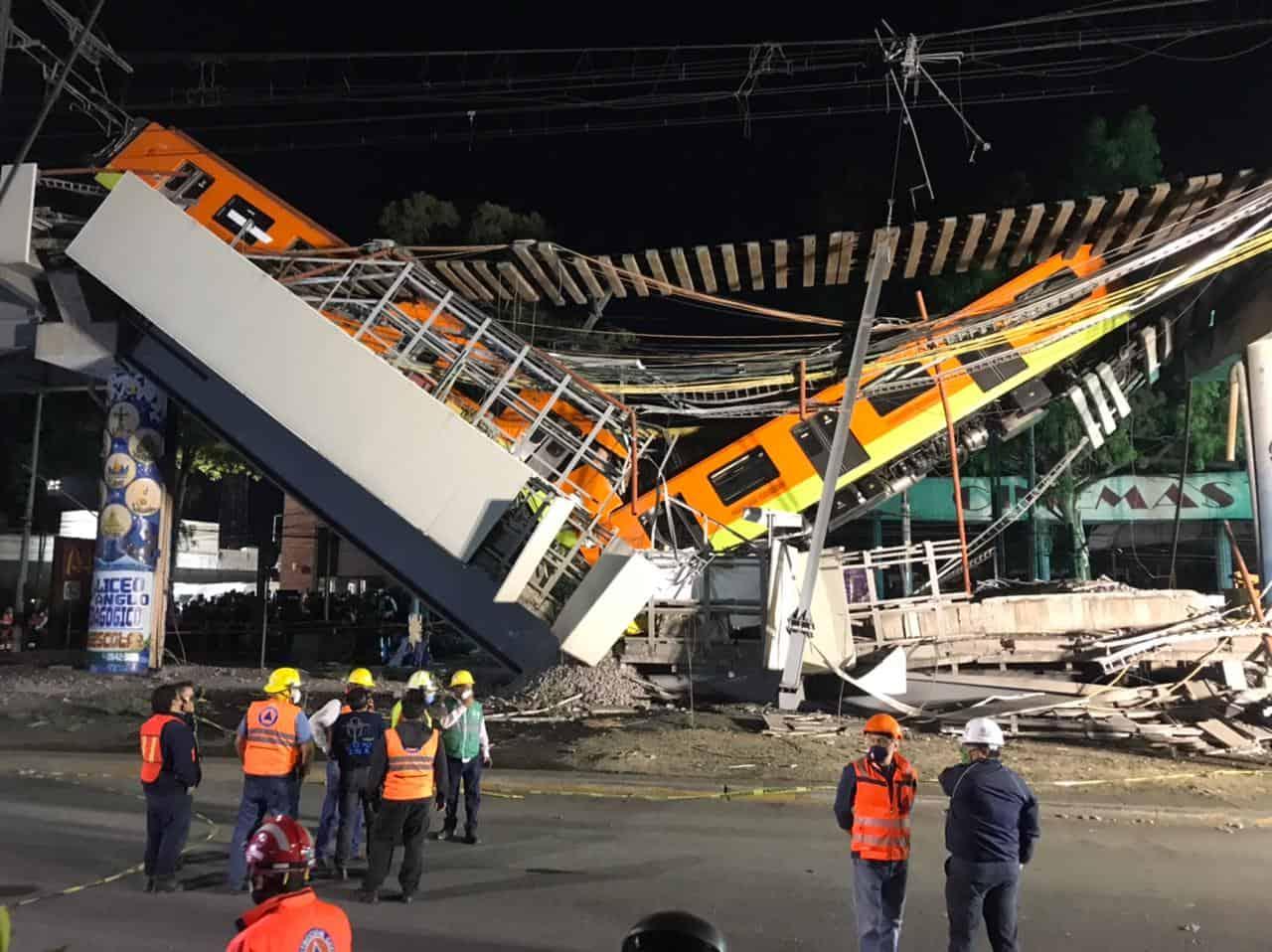 """Proponen nombrar como """"La noche Triste"""" al colapso del Metro de la Línea 12"""