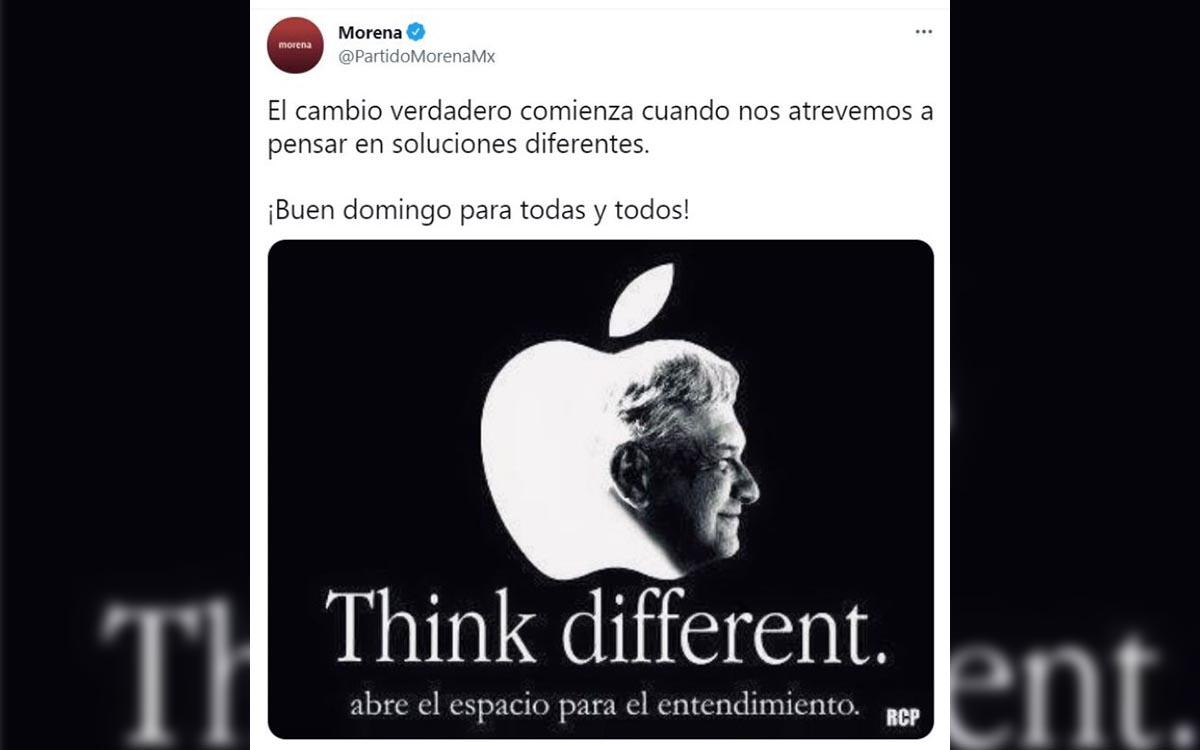 Se piratea Morena publicidad de Apple y se vuelve un blanco de memes