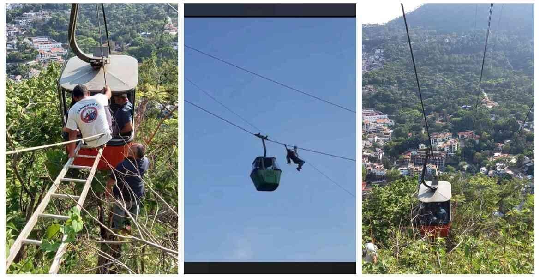 #VIDEO Rescatan ilesas a 9 personas atrapadas en Teleférico de Taxco tras romperse un cable