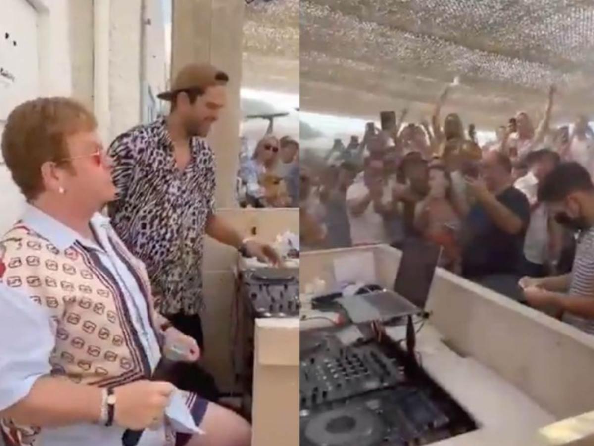 #VIRAL Sorprende Elton John a fans con palomazo en restaurante