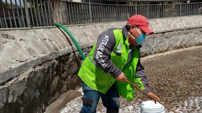Brinda Toluca mantenimiento al estanque de patos del Parque Cuauhtémoc–Alameda