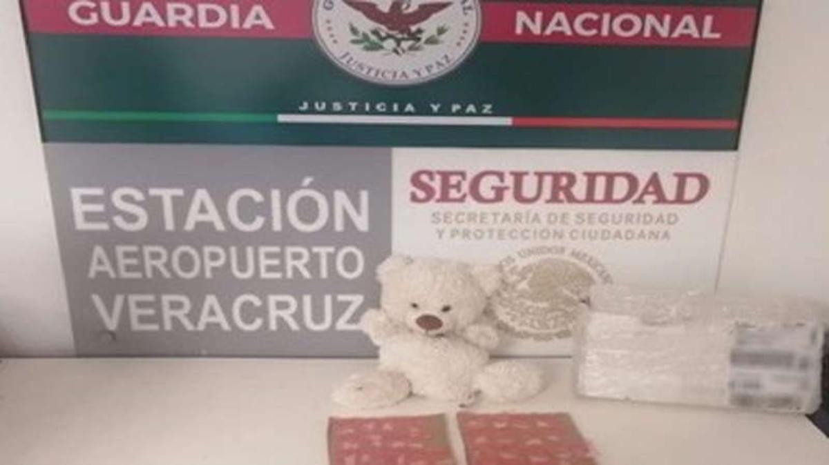 Decomisa Guardia Nacional 50 dosis de cristal dentro de un oso de peluche