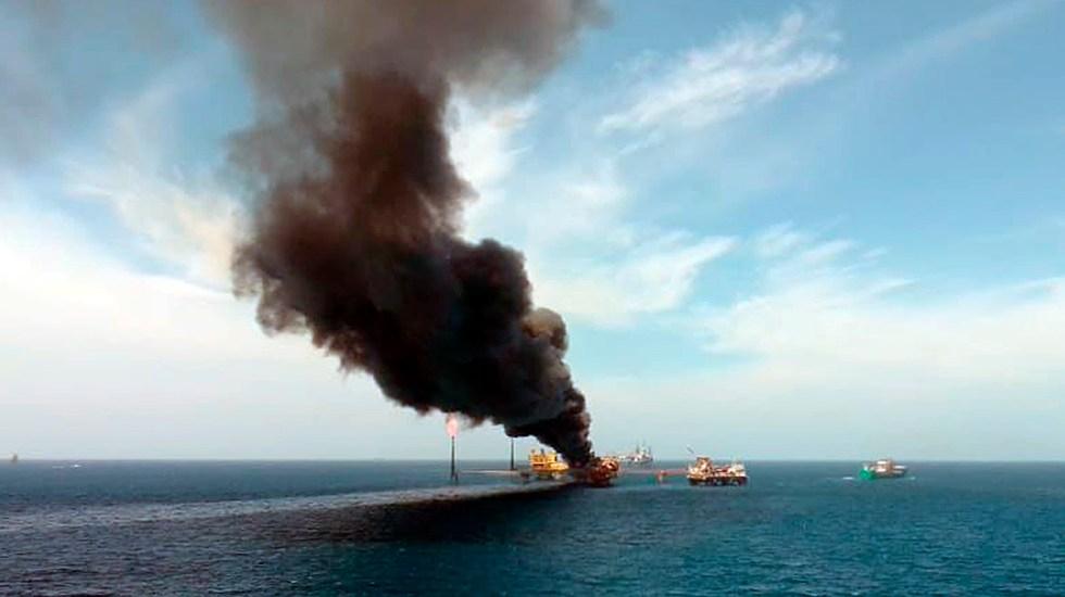 Restablecen producción en la plataforma de Campeche que sufrió una explosión