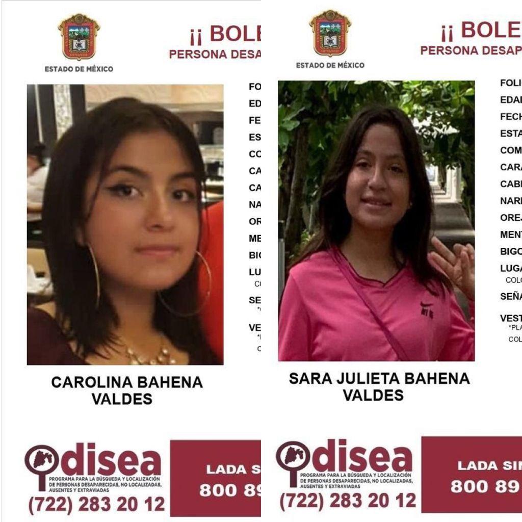 """""""Salieron a comprar una planta y ya no regresaron"""" Desaparecen hermanas en Toluca"""