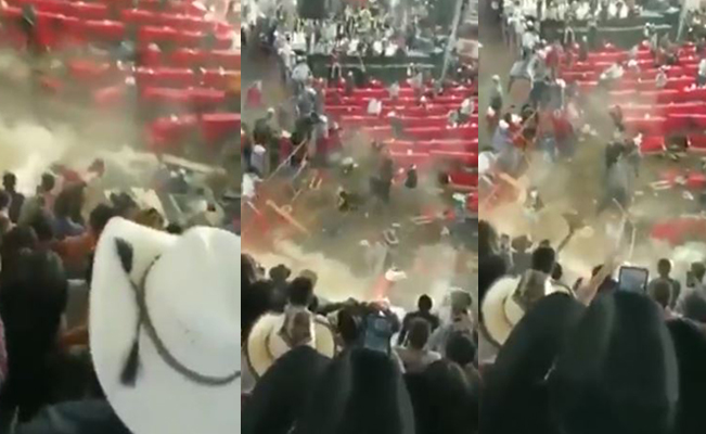 #VIDEO 10 heridos luego de que un toro brincara una cerca durante jaripeo en Michoacán