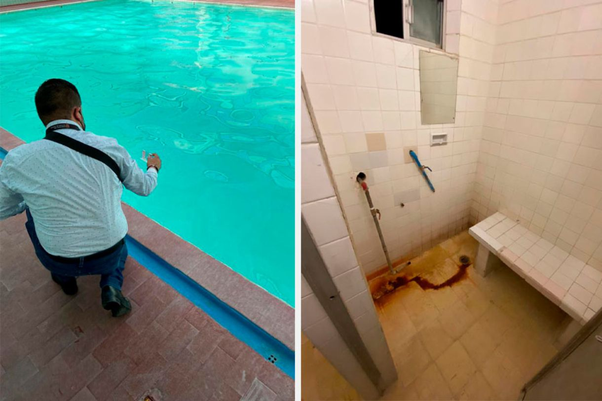 Coprisem suspende baños con alberca en Toluca