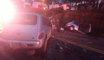 Accifente frontal en la Toluca-Zitacuaro