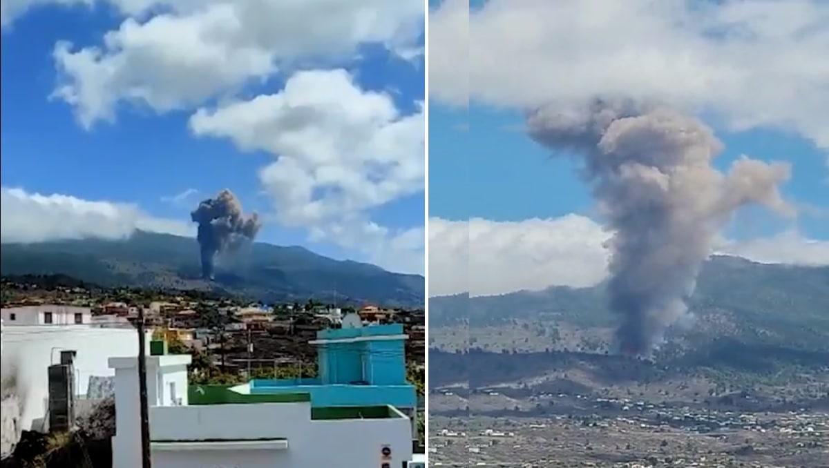 En vídeo erupción de volcán en isla Española