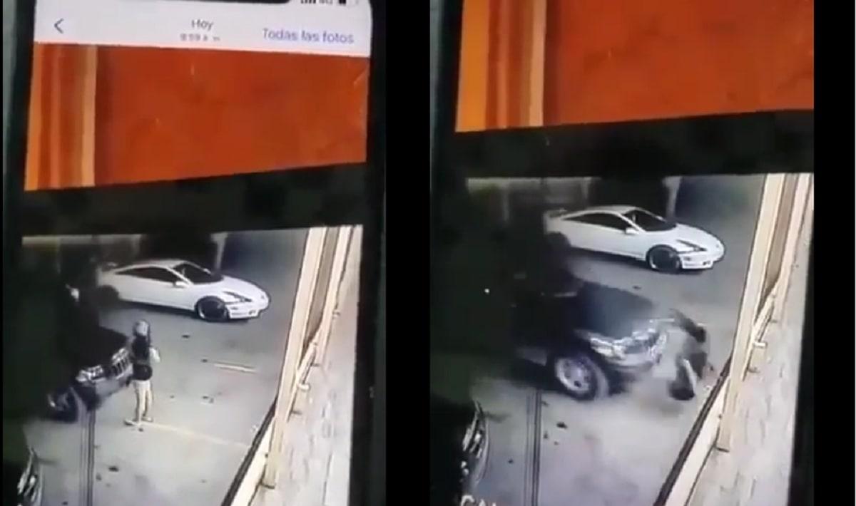 VÍDEO: Mujer intenta ayudar a empujar camioneta y su amiga la atropella