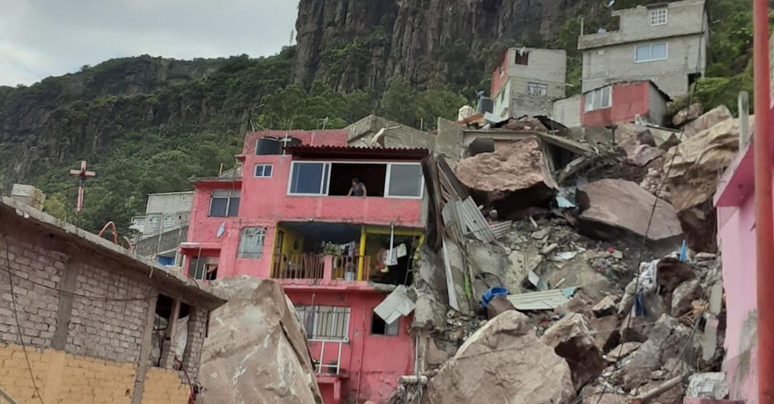 #VIDEO Se desgaja Cerro del Chiquihuite y sepulta viviendas en Tlalnepantla