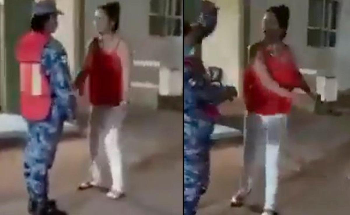 #VIDEO Mujer agrede a una militar que le negó el paso al sanitario en Sonora y se vuelve viral