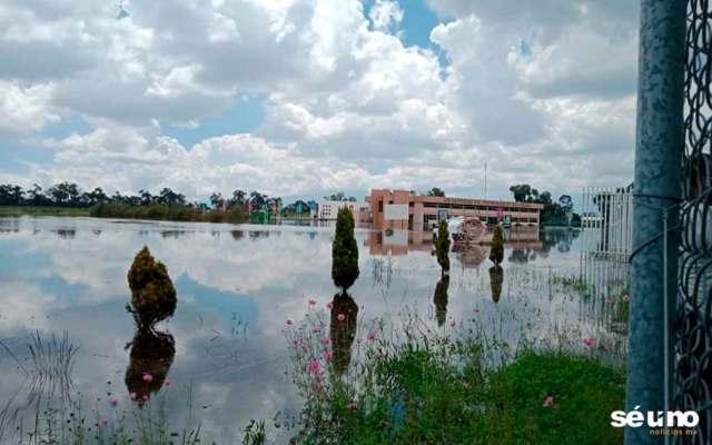 #Video Bajo el agua quedó la Universidad Politécnica de Otzolotepec