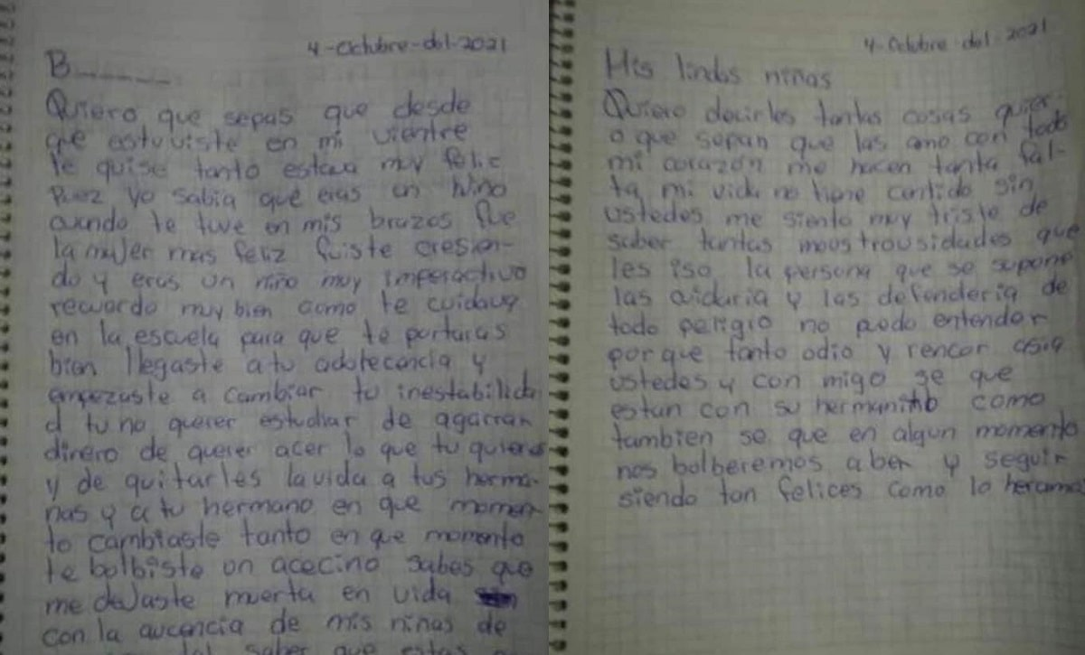 ¡Desgarrador! Mamá escribe carta a su hijo feminicida en Edomex