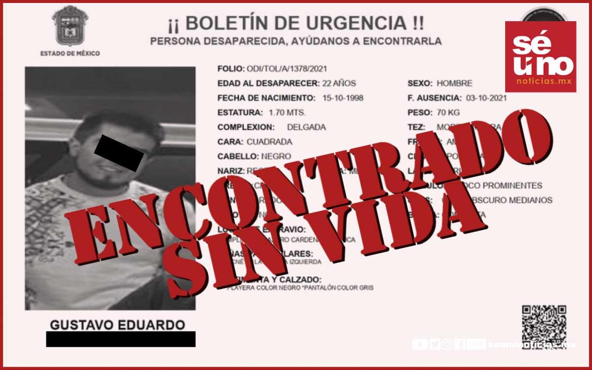 Joven desaparecido fue hallado muerto abajo del puente en Las Torres