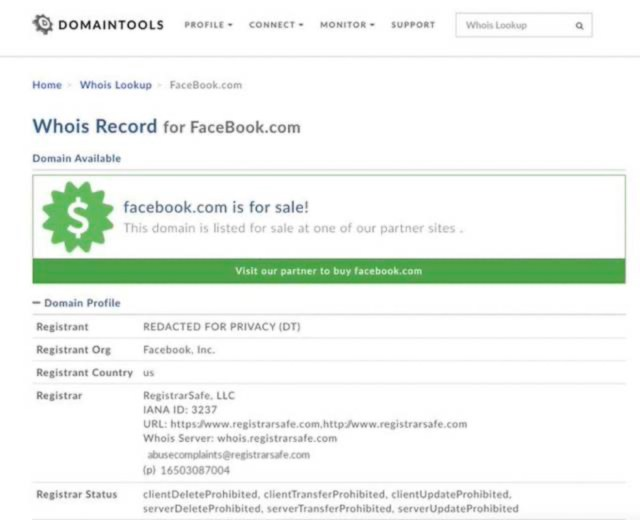 sabotaje Facebook caída