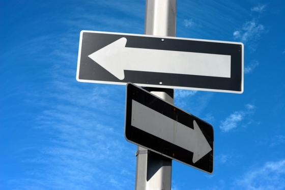 decisiones, camino, dirección