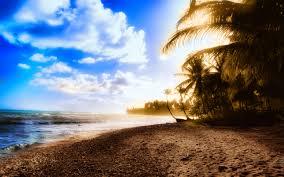 verano, equipo, empleados, playa