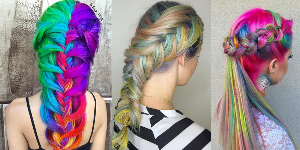 10 Mesmerizing Rainbow Braids You Wont Be Able To Stop