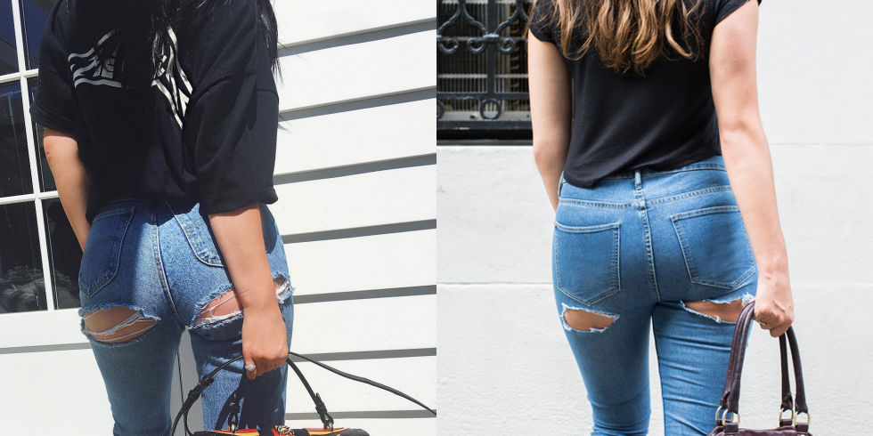 Image result for bare butt jeans