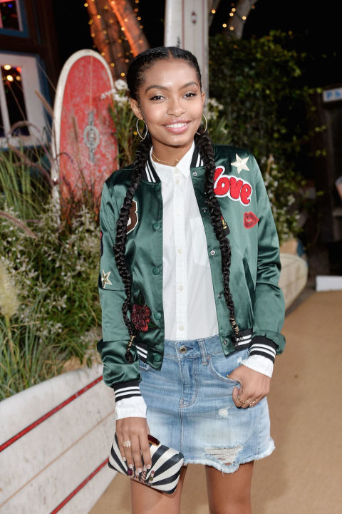 The coolest way to top off an outfit this year, as worn by Yara Shahidi. In 2016, Google searches for bombers soared by 235 percent.