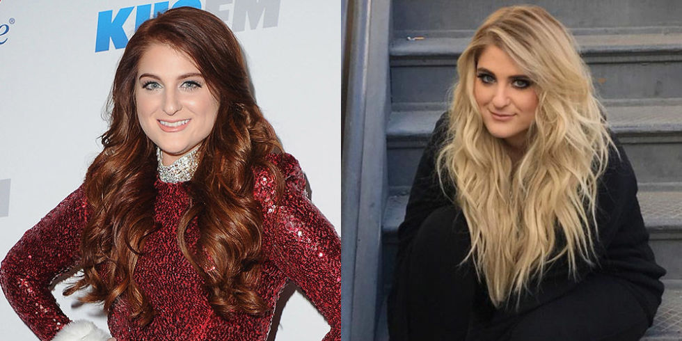 """The """"No"""" singer revealed that she's dyed her auburn hairblonde in her most recent Instagram pics, a look that's totally familiar to fans who have been following her since she rocked the same look in her """"All About That Bass"""" days."""