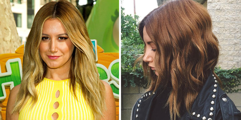 Everyone's favorite blonde is now a brunette! In the name of winter, she colored her hair a gorgeous chestnut shade.