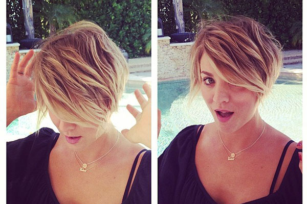 """You were just getting used to Kaley's long bob, when the TV star debuted this cool pixie cut! She gave her hairstylist a shout-out on Instagram: """"Thank you @clsymonds for bringing out my inner Peter Pan :) #byronbeverlyhills #justcutitoff"""""""