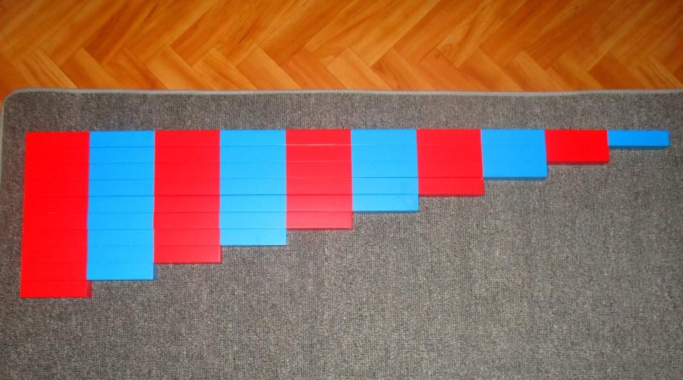 les barres numériques montessori