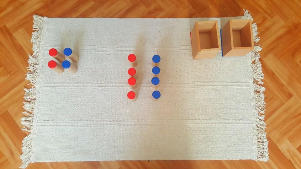 mise en paire boites à sons Montessori